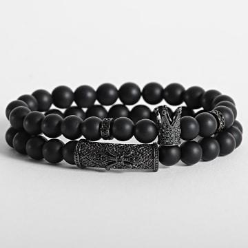 California Jewels - Bracelet AE101 Noir
