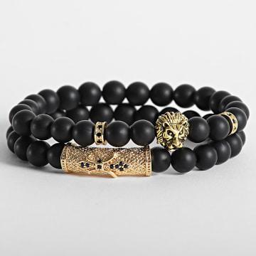 California Jewels - Bracelet AE104 Noir Doré