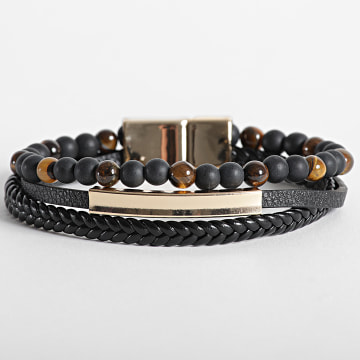 California Jewels - Bracelet AE105 Noir Doré
