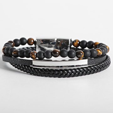 California Jewels - Bracelet AE106 Noir Chrome