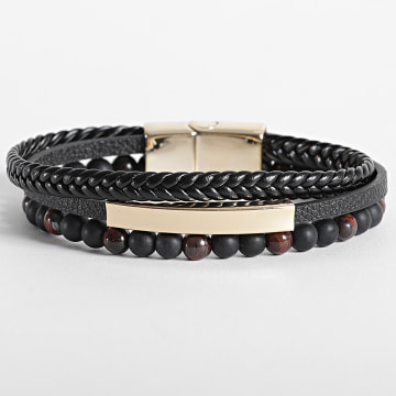 California Jewels - Bracelet AE108 Noir Doré