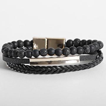 California Jewels - Bracelet AE109 Noir Doré