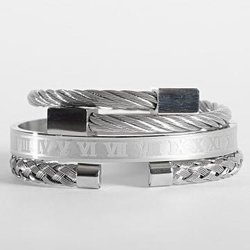 California Jewels - Lot De 3 Bracelets AE123 Argenté