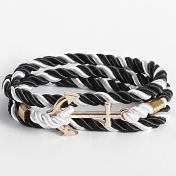 California Jewels - Bracelet AE128 Noir Blanc Doré