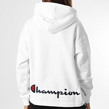 Champion - Sweat Capuche Col Zippé Femme 114463 Blanc