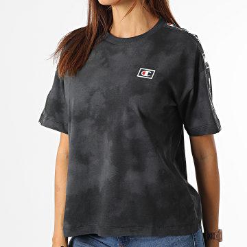 Champion - Tee Shirt Femme A Bandes 114761 Gris Souris