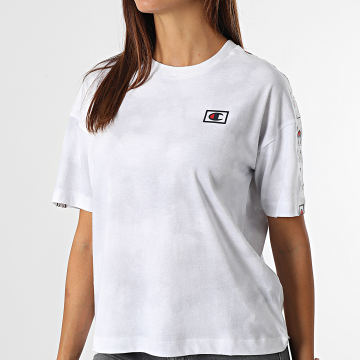 Champion - Tee Shirt Femme A Bandes 114761 Blanc