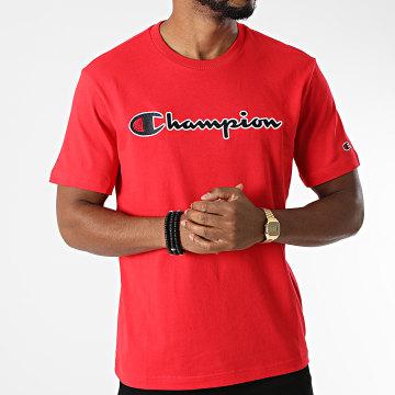 Champion - Tee Shirt 216473 Rouge