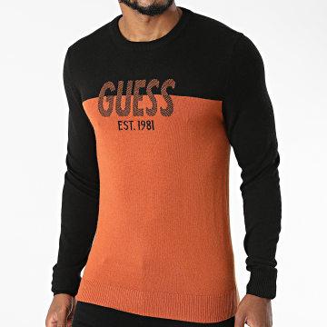 Guess - Pull M1BR18-Z2VX2 Noir Orange