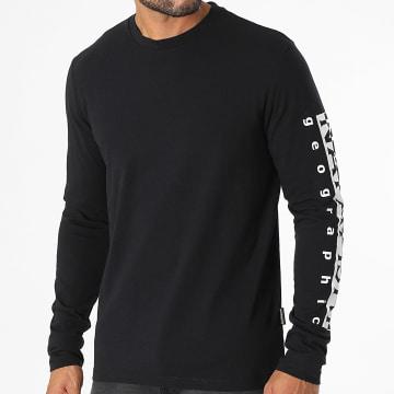 Napapijri - Tee Shirt Manches Longues Sadas A4FRG Noir