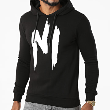 NI by Ninho - Sweat Capuche H001 Noir Blanc
