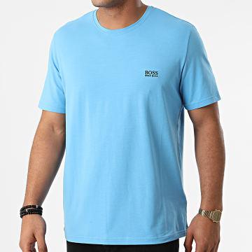 BOSS - Tee Shirt Col V 50381904 Bleu Clair