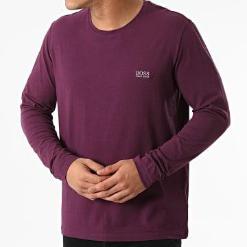 BOSS - Tee Shirt Manches Longues 50379006 Bleu Marine Chiné