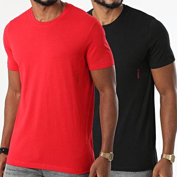 HUGO - Lot De 2 Tee Shirts Twin 50408203 Rouge Bleu Marine