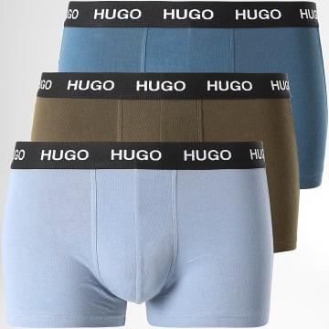 HUGO - Lot De 3 Boxers 50449351 Bleu Vert Kaki