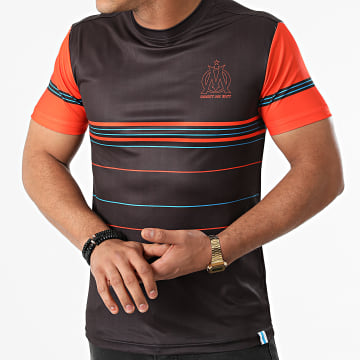 OM - Tee Shirt Polyester Sublime M21007C Noir Orange