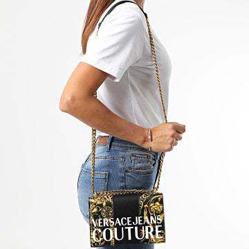 Versace Jeans Couture - Sac A Main Femme Range Stipe Patchwork Noir Renaissance