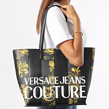 Versace Jeans Couture - Sac A Main Femme Range Stripe Patchwork Noir Renaissance