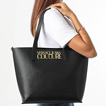 Versace Jeans Couture - Sac A Main Femme Range Logo Lock Noir