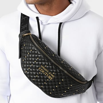 Versace Jeans Couture - Sac Banane Range Quilting Noir