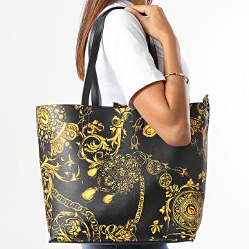 Versace Jeans Couture - Sac A Main Femme Réversible Shopper Noir Renaissance