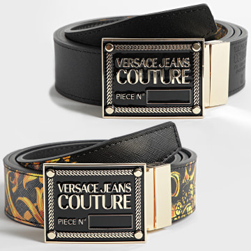 Versace Jeans Couture - Ceinture Réversible 71YA6F01 Noir Renaissance
