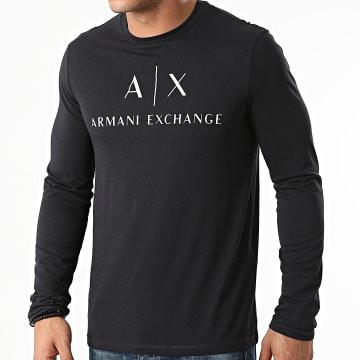 Armani Exchange - Tee Shirt Manches Longues 8NZTCH-Z8H4Z Bleu Marine