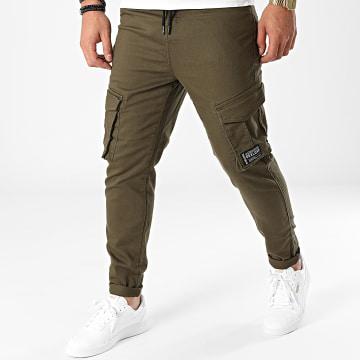 Deeluxe - Pantalon Cargo Willy Vert Kaki