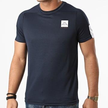 Kappa - Tee Shirt De Sport Imparo Bleu Marine