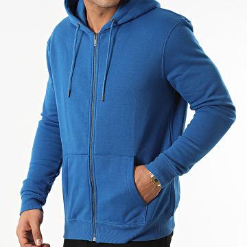 KZR - Sweat Zippé Capuche Basic 02 Bleu Roi