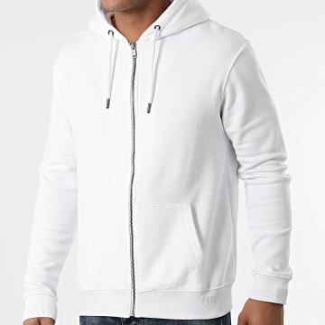 KZR - Sweat Zippé Capuche Basic 02 Blanc