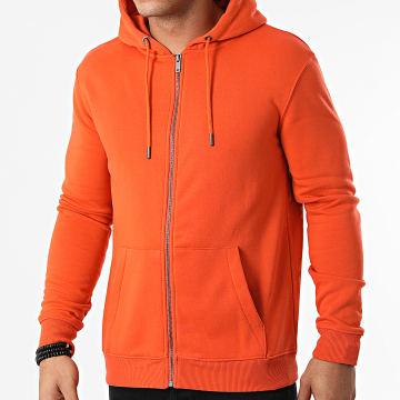 KZR - Sweat Zippé Capuche Basic 02 Orange