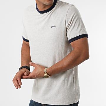 Superdry - Tee Shirt Vintage Ringer M1011183A Gris Clair Chiné