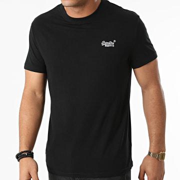 Superdry - Tee Shirt Vintage Logo Embroidery M1011245E Noir