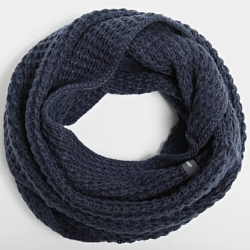 Jack And Jones - Echarpe Tube Waffle Knit Bleu Marine