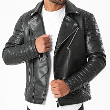 Kymaxx - Veste Biker 5035 Noir