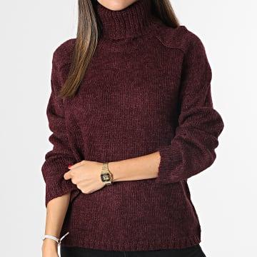 Only - Pull Femme Sandis Bordeaux
