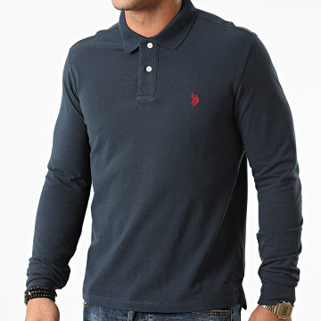US Polo ASSN - Polo Manches Longues Must 60628-49785 Bleu Marine Rouge
