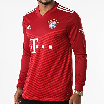 adidas - Tee Shirt De Sport Manches Longues FC Bayern GR0486 Bordeaux Rouge