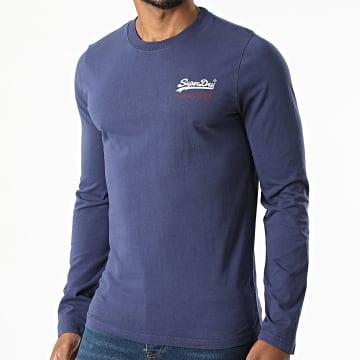 Superdry - Tee Shirt Manches Longues Vintage Logo AC M6010546A Bleu Marine