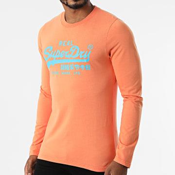 Superdry - Tee Shirt Manches Longues Vintage Logo AC M6010546A Orange Clair