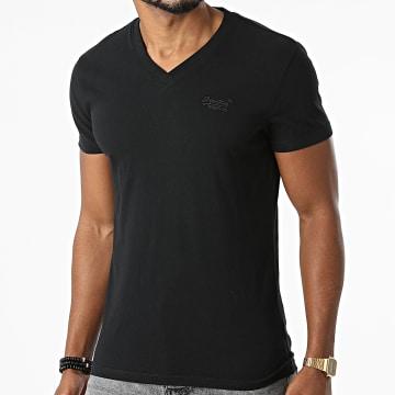 Superdry - Tee Shirt Col V M1011170A Noir