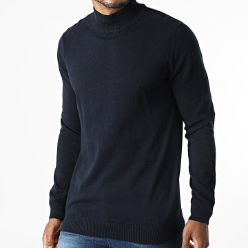 Deeluxe - Pull Col Cheminée Daly Bleu Marine
