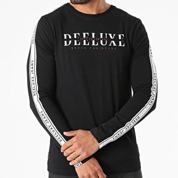 Deeluxe - Tee Shirt Manches Longues A Bandes Ralfson Noir