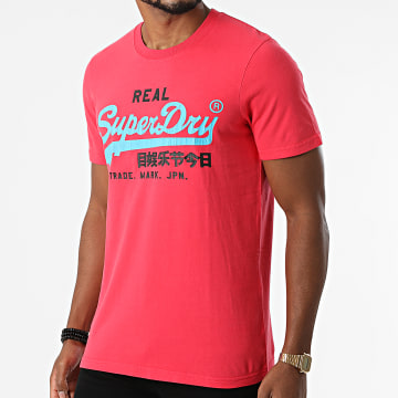 Superdry - Tee Shirt Vintage Logo AC M1011143A Rouge