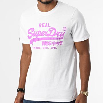 Superdry - Tee Shirt Vintage Logo AC M1011143A Blanc