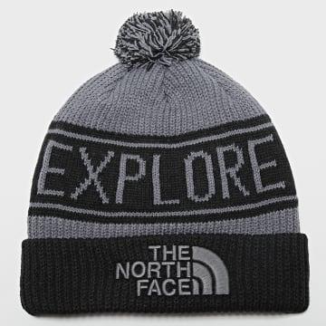 The North Face - Bonnet Retro TNF Cuff Noir Gris