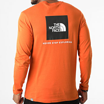 The North Face - Tee Shirt Manches Longues Red Box A493L Orange