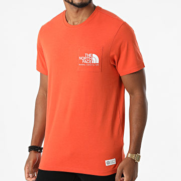 The North Face - Tee Shirt Poche Scrap Berkeley California A55GD Orange