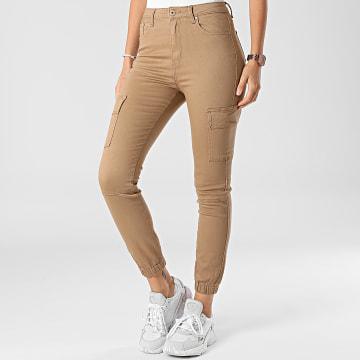 Girls Outfit - Jogger Pant Femme G2109 Marron